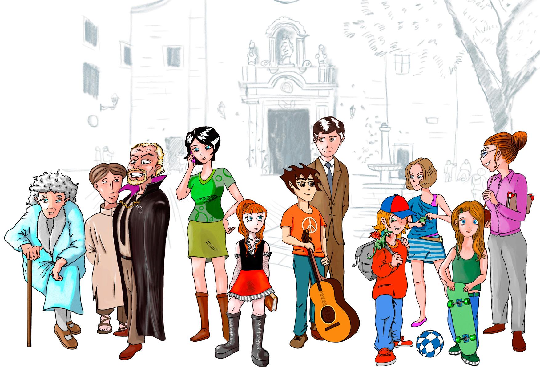 Création de personnages, characters design
