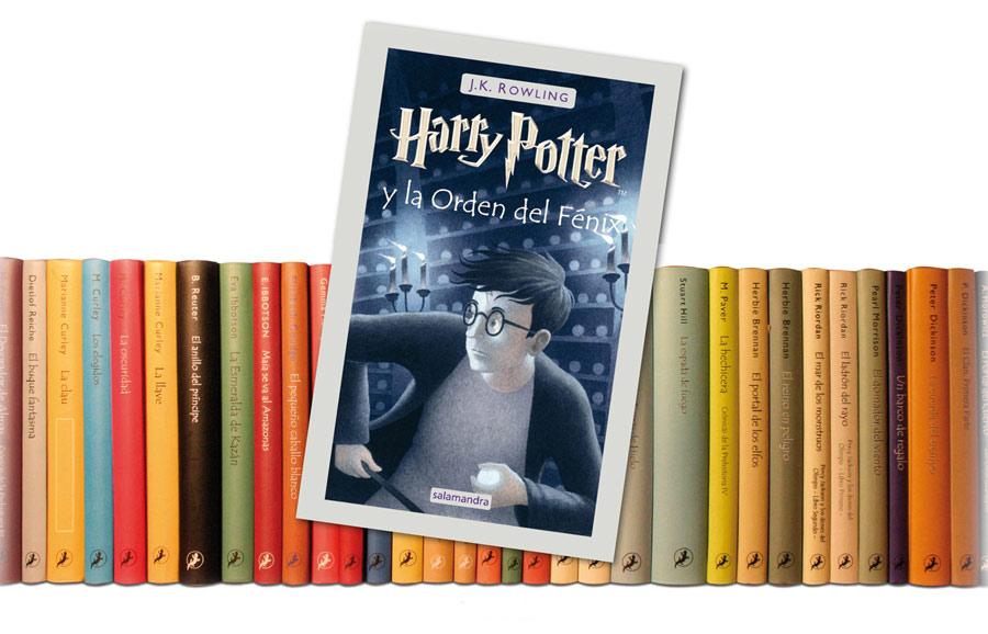 Mon passage comme responsable des couvertures chez Salamandra, sur cette image la section jeunesse avec le fameux Harry Potter