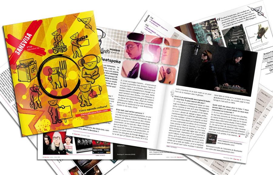 Graphisme, mise en page de magazine
