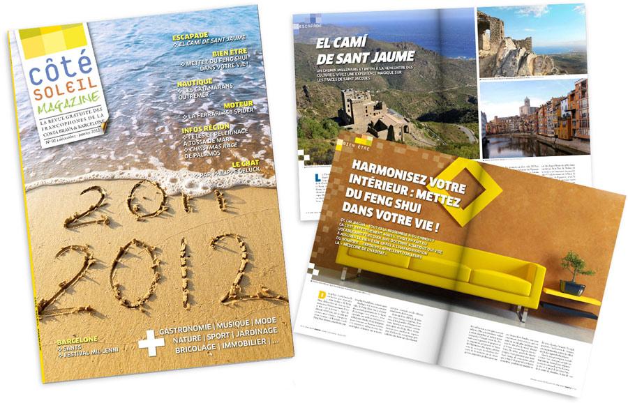 Direction artistique du magazine Côté Soleil Magazine