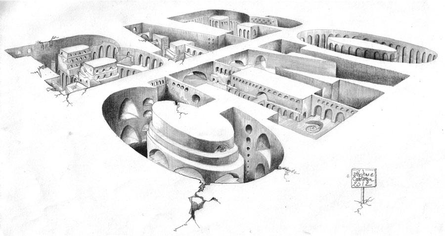 illustration Barcino au crayon de papier