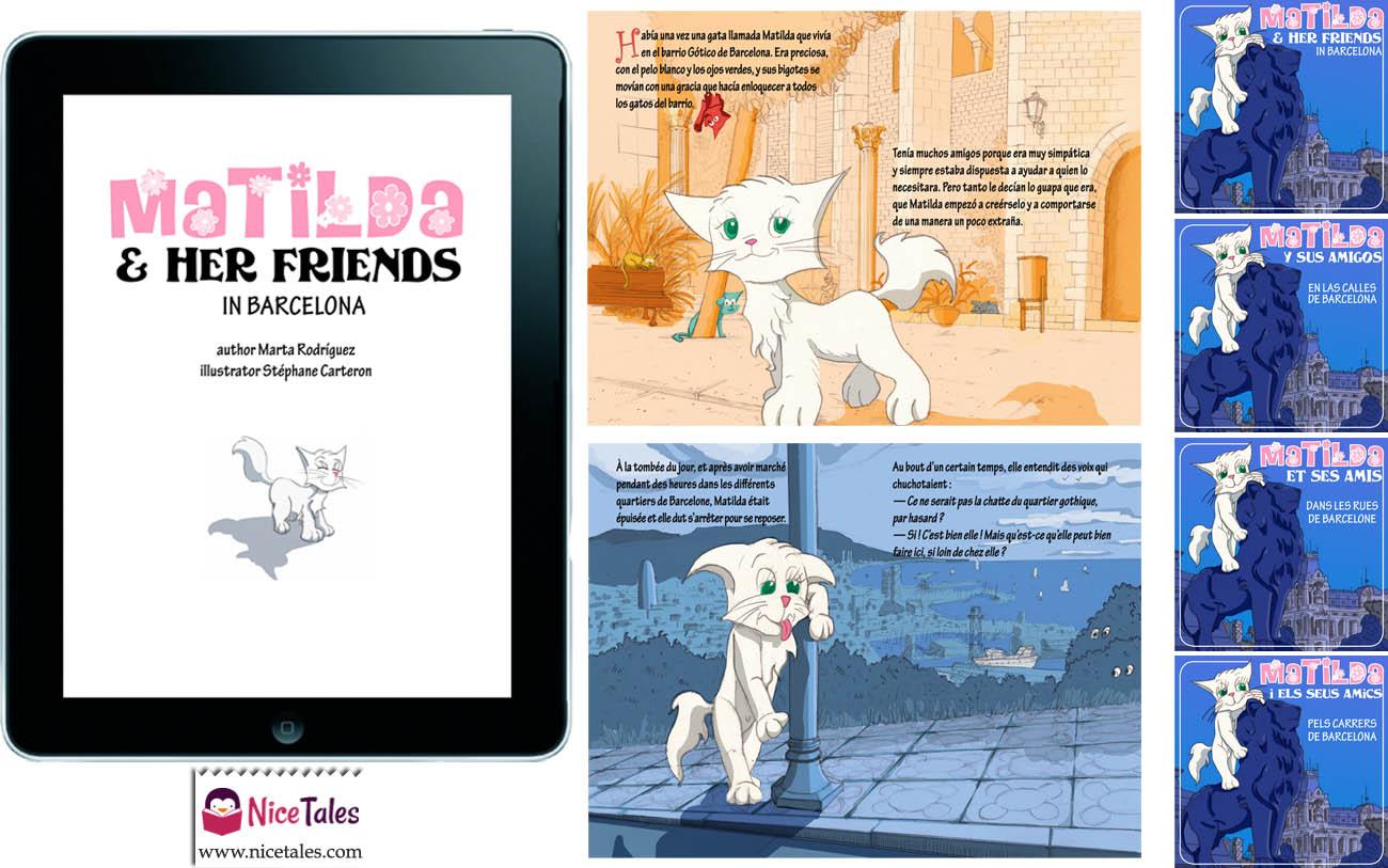 Conte pour enfant sur IPad - Matilda et ses amis. Publié par Nice Tales Publishing. Texte de Marta Espinosa, illustrations de Stéphane Carteron
