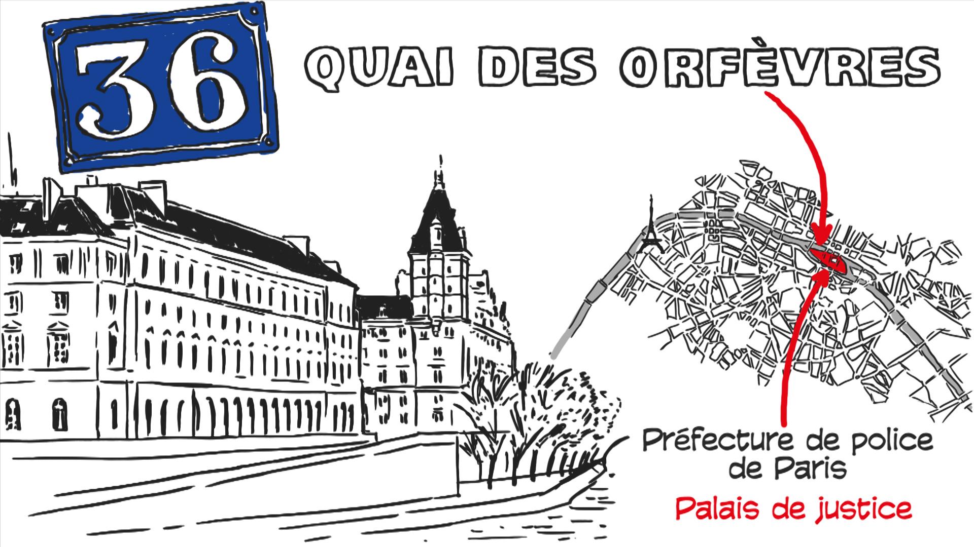 """Expliquez-nous de France info – Le 36 Quai des Orfèvres, c'est quoi au juste ? création d'une animation hebdomadaire pour le web site du programme """"Expliquez-nous"""" de France info"""