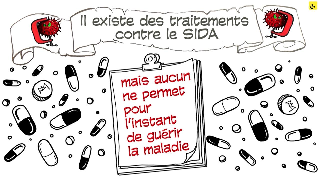 """Quels sont les différents traitements contre le SIDA ? Expliquez-nous de France info – Les parachutes dorés, création d'une animation hebdomadaire pour le web site du programme """"Expliquez-nous"""" de France info"""
