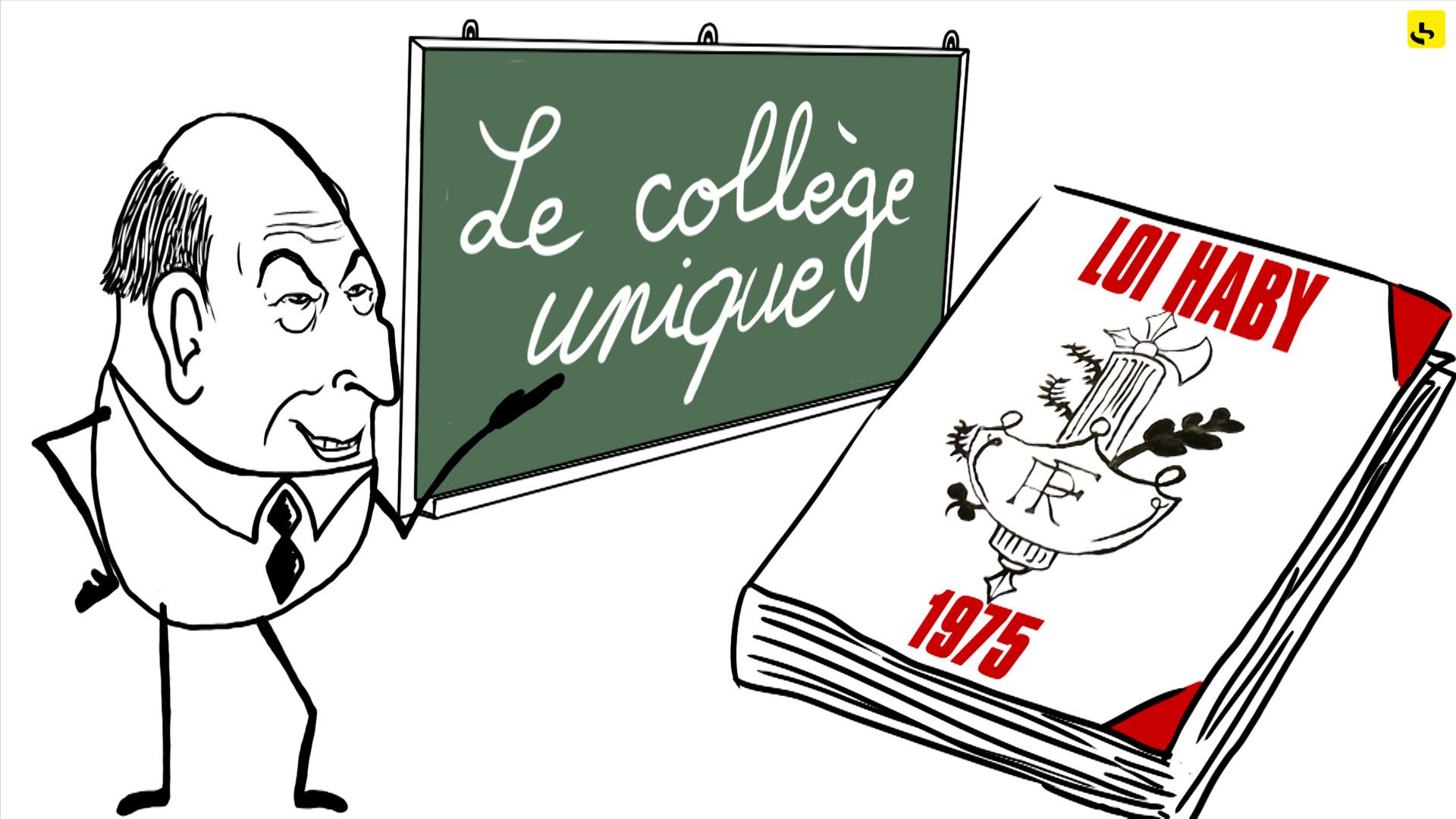 """Le collège unique, création d'une animation hebdomadaire pour le web site du programme """"Expliquez-nous"""" de France info"""