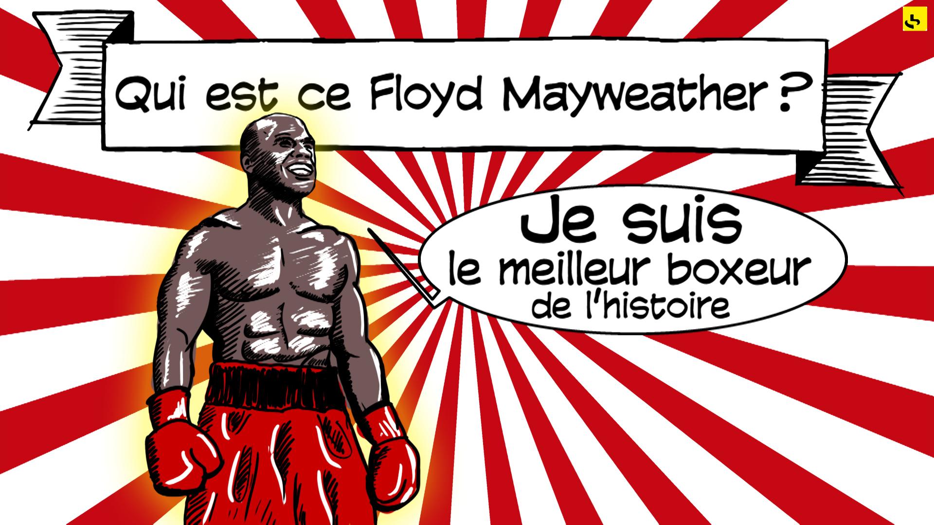 """Floyd Mayweather, création d'une animation hebdomadaire pour le web site du programme """"Expliquez-nous"""" de France info"""