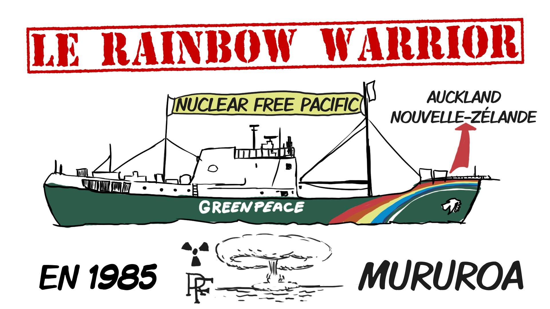 """Expliquez-nous... Le rainbow warrior. création d'une animation hebdomadaire pour le web site du programme """"Expliquez-nous"""" de France info"""