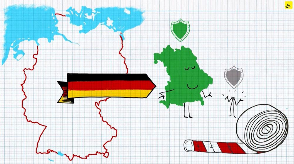 """Comment fonctionnent les Länder allemands ? création d'une animation hebdomadaire pour le web site du programme """"Expliquez-nous"""" de France info"""
