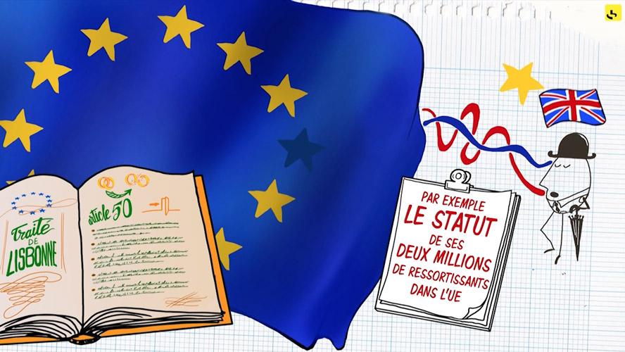"""Comment fonctionne l'article 50 du traité de Lisbonne, qui rend possible le """"Brexit"""" ? création d'une animation hebdomadaire pour le web site du programme """"Expliquez-nous"""" de France info"""