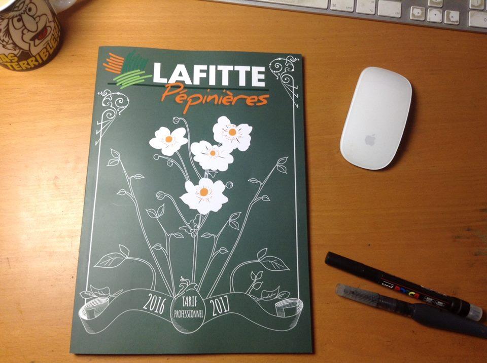 Création du graphisme et illustration du catalogue Lafitte 2019