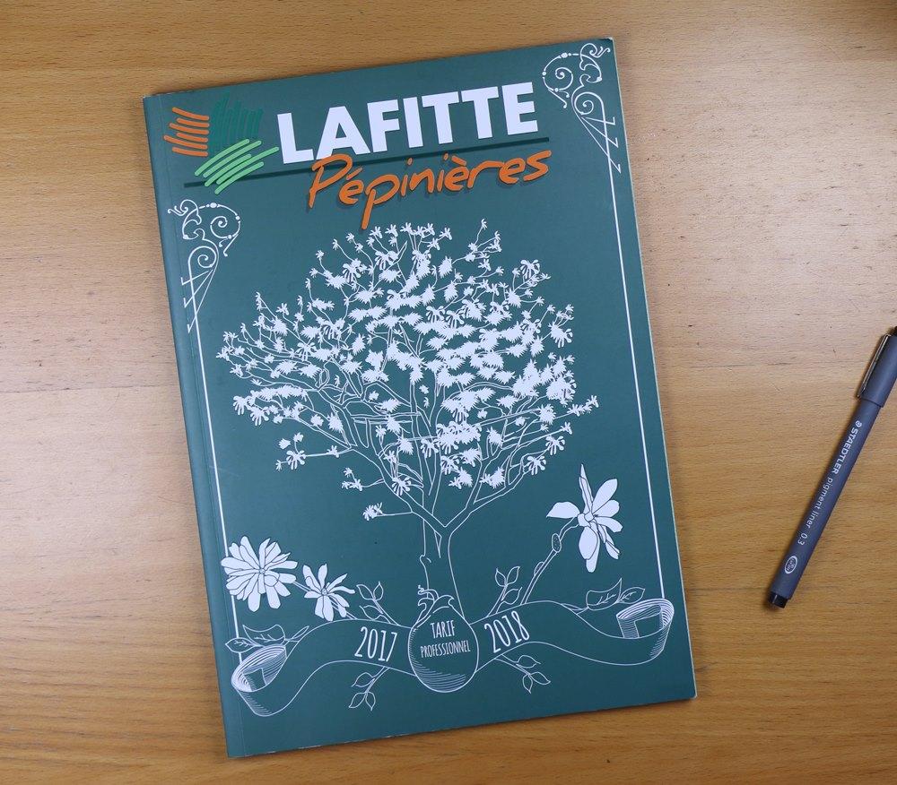 Création du graphisme et illustration du catalogue Lafitte 2018