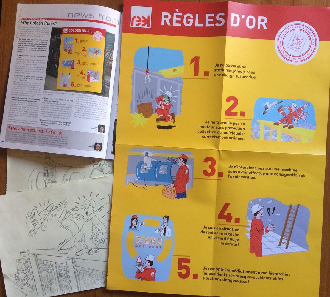5 illustrations sur les règles d'or
