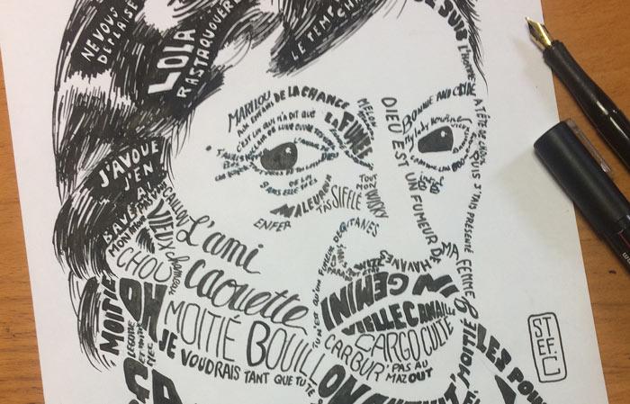 Étude préliminaire du calligramme de Serge Gainsbourg