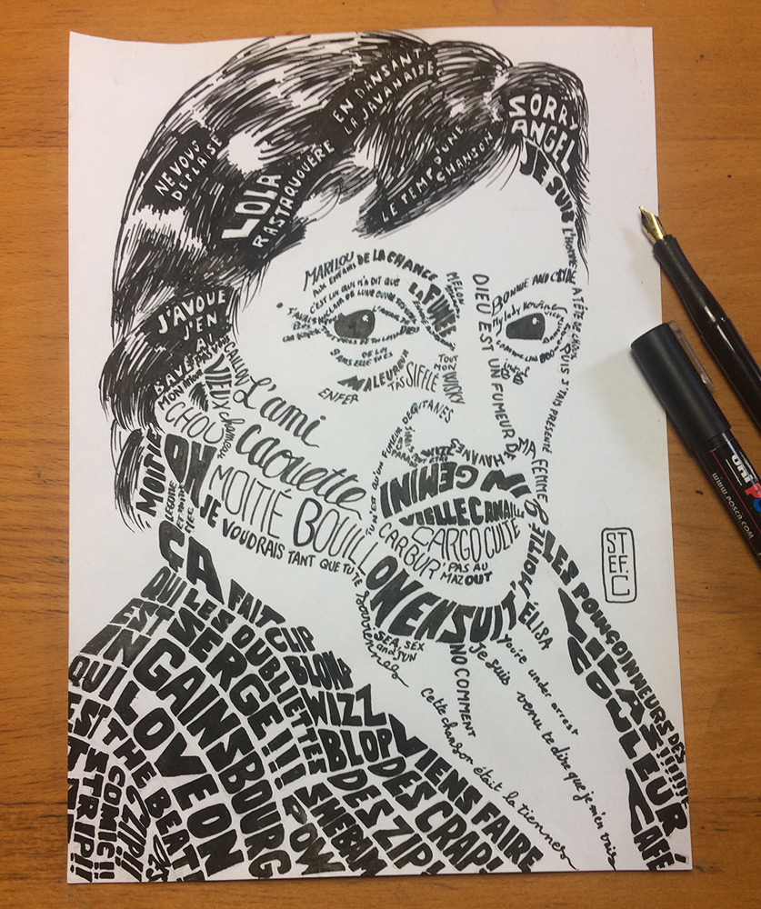 Calligramme Serge Gainsbourg
