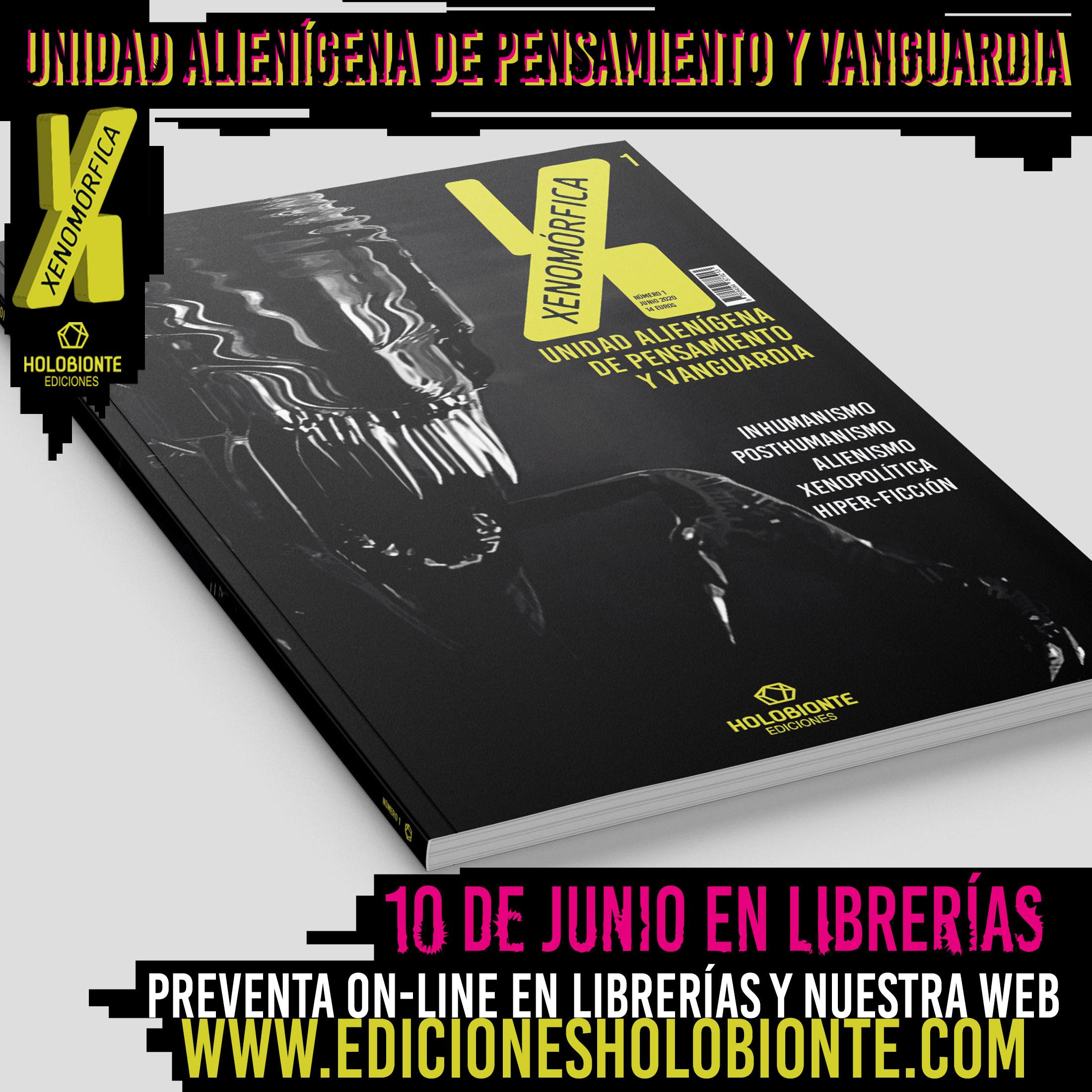 Creación de revista, diseño gráfico de la revista Xenomórfica