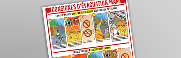 Création affiche de consignes évacuation